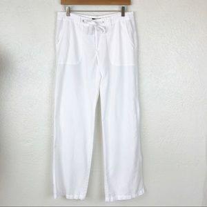 GAP Pants - GAP Linen wide straight leg mid rise pants 6.  051